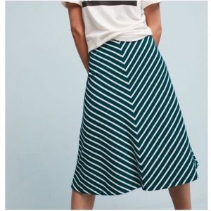Anthropologie Harlyn striped terry midi skirt